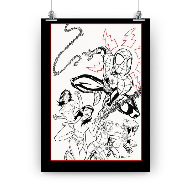 Póster Spiderman «Amigo y vecino», dedicado y firmado por Salva Espín