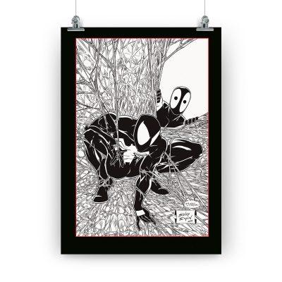 Póster «Spider and Merc», dedicado y firmado por Salva Espín