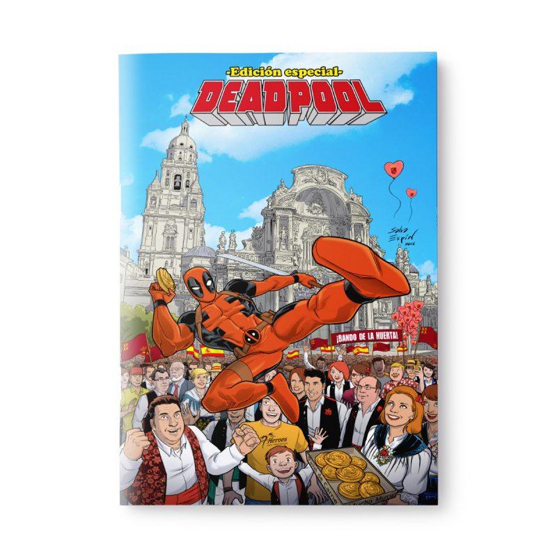 Pack «Deadpool Murcia», cómic ed. coleccionista + lámina exclusiva, dedicado y firmado por Salva Espín