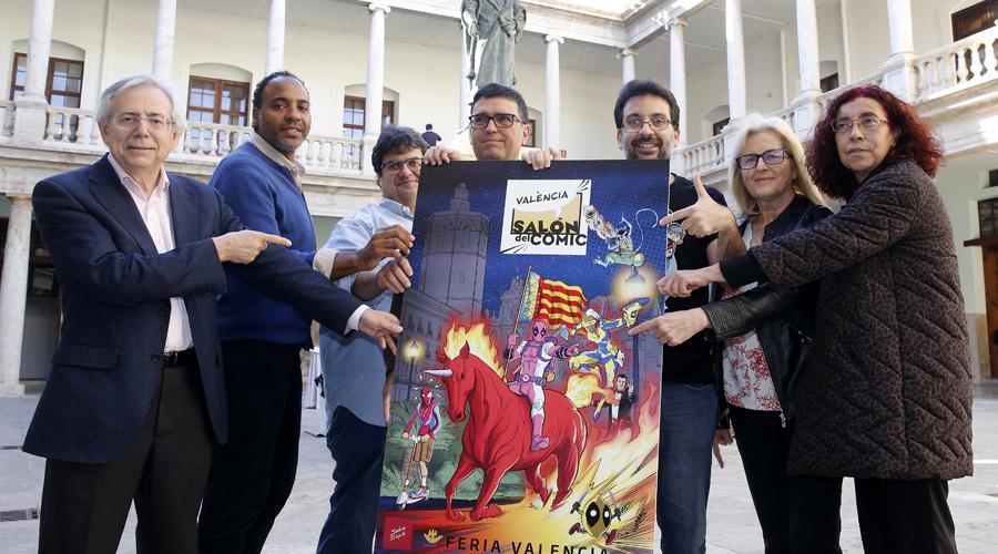 Salva Espín diseña el cartel oficial del Salón del Cómic de Valencia 2020
